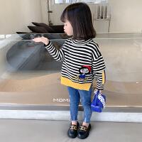 女童春秋套头毛衣洋气2021秋季新款儿童针织衫中小童秋冬打底上衣