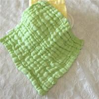 婴儿水洗纱布手帕纯棉小方巾6层新生婴儿洗脸洗澡毛巾宝宝喂奶巾