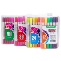 HERO英雄8032油性马克笔套装 水彩软笔 双头 学生手绘设计绘画笔动漫专用 水彩笔 多色海报笔 *