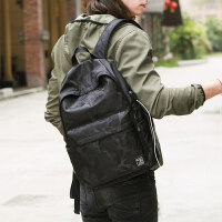男士双肩包男休闲旅行背包电脑包韩版大学生高中学生书包时尚潮流