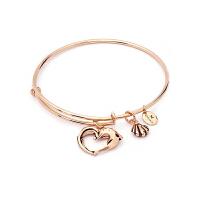 【网易考拉】Chrysalis 女士阿芙罗狄蒂的心串饰伸缩式手镯 玫瑰金