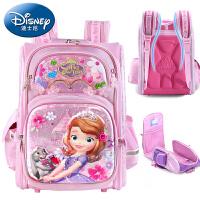 迪士尼冰雪奇缘书包小学生1-3-6年级女童双肩包6-12周岁儿童背包儿童书包