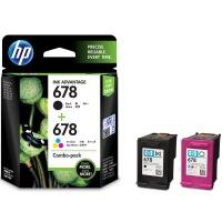 原装正品惠普(HP)L0S24AA 678黑色+678彩色套装 (适用HP Deskjet1018,2515,1518,4648,3515,2548,2648,3548,4518)