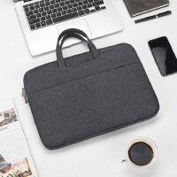 手提包男士包包商务公文包休闲包帆布包办公包文件包14寸电脑包