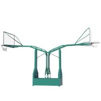 室外燕式双臂篮球架移动式标准篮球架配钢化玻璃篮板 燕式篮球架