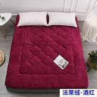加厚榻榻米羊羔绒床垫单双人学生可折叠防滑垫被床褥