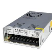 伊莱科 开关电源S-350-12 单组单路输出DC12V 监控安防电源 350W