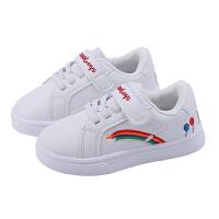 女童鞋子春秋季新款童鞋儿童休闲板鞋小白鞋男童透气运动鞋