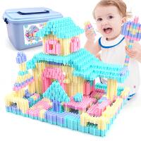 男孩子小孩女孩女童儿童拼装塑料拼插积木玩具1-2-3-4-6周岁7