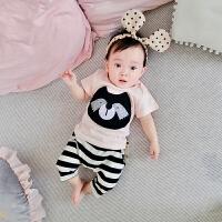 婴儿童内衣套装纯棉男女8宝宝5春秋衣服9睡衣60-1岁3个月春款夏