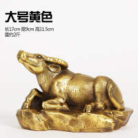 纯铜牛摆件工艺品铜牛 家居装饰品摆设风水摆件 6寸生肖牛(黄),大号 付款后60天发货