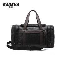 男士旅行包斜挎手提包健身运动背包男韩版双肩包单肩包行李包 黑色