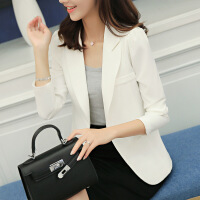 2018新款韩版西装修身显瘦长袖纯色小西装女装外套