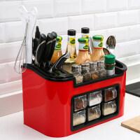 调料收纳箱 厨房用品储物置物架落地调味品调味料调料收纳盒橱柜灶台收纳神器