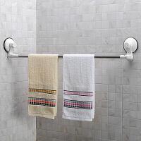 家居毛巾杆不锈钢吸盘毛巾架浴室墙角免打孔单杆毛巾挂
