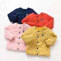 小棉袄男童女童丝棉夹棉保暖上衣中大童