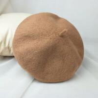 韩版潮可爱百搭画家帽羊毛呢冬季帽子女款秋冬贝雷帽小礼帽潮 M(56-58cm)