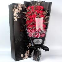 99朵仿真玫瑰花假花肥香皂花礼盒七夕节生日礼物创意永生花束表白