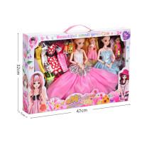 全店支持礼品卡4维眨眼芭比娃娃换装大礼盒儿童过家家巴比玩具套装婚纱公主女孩洋娃娃