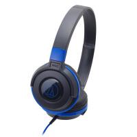 铁三角(Audio-technica)ATH-S100 HIFI重低音便携头戴式音乐耳机;佩戴方式>>入耳式 黑蓝色