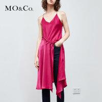 MOCO夏季新品圆环抽绳绑带细吊带上衣 MA182TOP119摩安珂