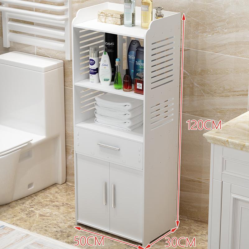 【品牌热卖】浴室卫生间置物架落地厕所马桶边柜洗手间储物收纳架子脸盆架防水