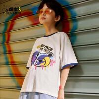 【任选专区3件89元】小虎宝儿男童短袖t恤潮牌2021夏季新款儿童纯棉上衣中大童