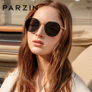 帕森偏光太阳镜 女士复古炫彩膜大框潮墨镜驾驶镜 2018新品9917