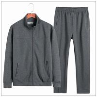 春秋男士运动套装加肥加大码卫衣中年胖子跑步外套长裤肥佬两件套