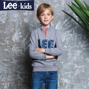 LEE童装秋季新品男童休闲上衣长袖套头中大童卫衣 2RW50030