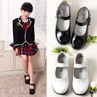 女童皮鞋真皮黑色新款公主鞋小女孩皮鞋中大童学生演出鞋儿童单鞋