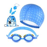 儿童泳镜 女童男童防水防泳帽 雾游泳眼镜 卡通游泳镜潜水镜套装 均码