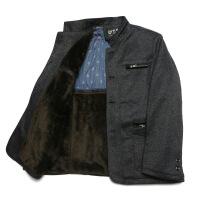 秋冬新款男装中老年夹克爸爸装秋装外套中年男士立领休闲夹克衫