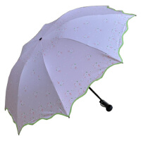 天堂伞黑胶伞33411E紫色丁香防晒伞防紫外线防紫外线晴雨两用伞