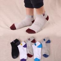 男士短袜薄款运动袜网眼透气短筒袜吸汗船袜低帮棉袜男袜 混色5双 均码