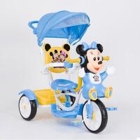 儿童三轮车脚踏车自行车儿童车单手推车3-4-5岁宝宝车