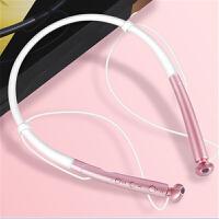 适用于苹果蓝牙无线运动跑步耳机 iPhone6/7/8/x 双耳挂耳颈挂脖头戴式 粉色