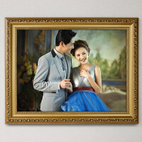 欧式实木相框挂墙照片框1寸婚纱照片相框拼图框画框像框