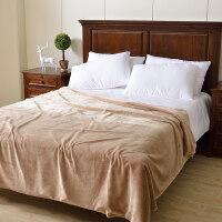 纯色双层法兰绒毛毯加厚珊瑚绒毛毯冬季用毯子单双人盖毯子父亲节