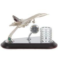 老板办公室桌面摆件笔筒科技感北欧个性简约开业礼品送人创意文台 飞机模型2039