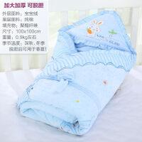 婴儿抱被包新生儿包巾保暖宝宝抱毯秋冬款睡袋用品加大加厚 e8o