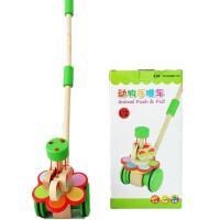 木质儿童学步助步手推车旋转蝴蝶动物单杆手推玩具宝宝拖拉学步车