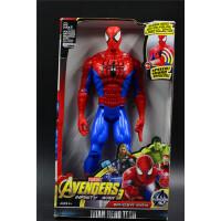 声光大号12寸多关节美国队长3蜘蛛侠雷神钢铁侠2玩具英雄模型公仔