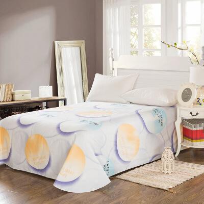 当当优品 纯棉斜纹床上用品 床单250*230cm 想你快乐当当自营 100%纯棉 不易褪色 0甲醛 透气防潮 大尺寸
