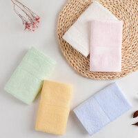 [5条装]中国结竹纤维洗脸方巾比纯棉吸水柔软儿童宝宝小毛巾 34x34cm