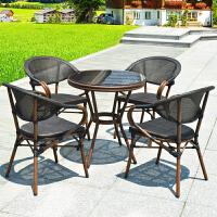 户外桌椅阳台藤椅子三件套装组合室外庭院露天休闲茶几创意腾座椅