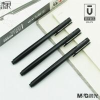 晨光优品B1903文具中性笔优品系列AGPB1903子弹头0.5mm签字笔水笔高密度笔杆