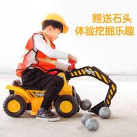挖掘机儿童玩具车男孩可坐大号电动挖土机钩勾机工程车可充电玩具