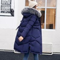保暖棉衣女修身休闲百搭棉服连帽毛领外套上衣
