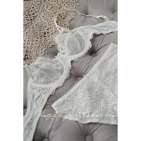 A19 欧美性感深V蕾丝内衣女士全透明文胸大码网纱少女生胸罩
